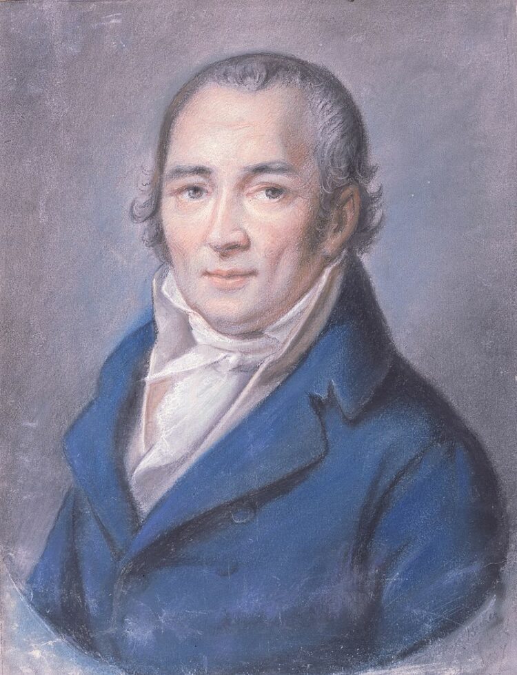 Johann Peter Hebel, Pastell von Philipp Jakob Becker